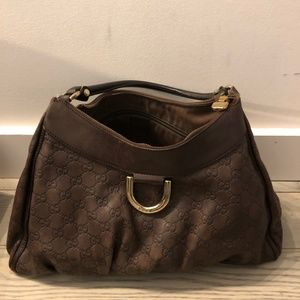 Brown Gucci Guccissima Shoulder Bag